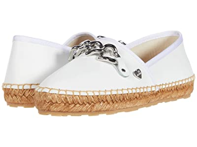 LOVE Moschino Chain Espadrille (White) Women