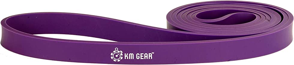 """KM Gear Physical Therapy Exercise Bands - Commercial Grade Pull Up Exercise Band - #3 Purple 3/4"""" Wide (30-50lb)"""