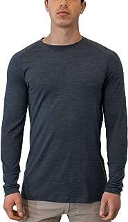 Woolx Men's Essentials Tee Lightweight & Breathable Long Sleeve Merino Wool Top
