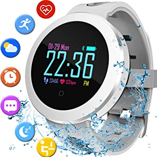 Fitness Tracker Pedometer Watch with Heart Rate Monitor Waterproof Activity Tracker with Calorie Counter Sleep Monitor Sport Smart Watch Health Monitors for Kids Teen Women Men Teacher Back to School