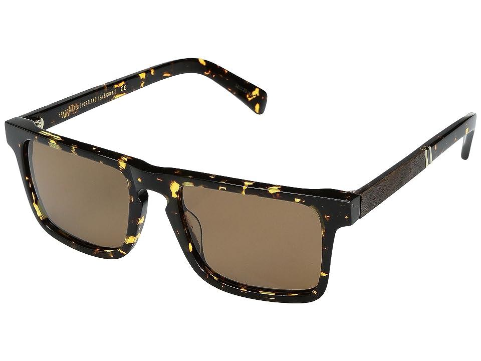 Shwood Govy 2 Acetate Wood Polarized (Dark Speckle/Elm Burl/Brown Polarized) Polarized Sport Sunglasses