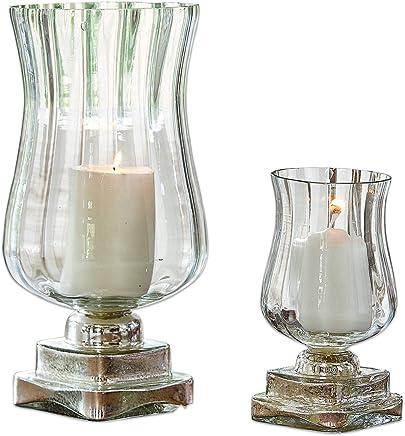 Fer Blanc Vieilli H//L//P//D env Loberon Lot de 3 Chandeliers Folligny 38//12 // 12//12 cm manguier