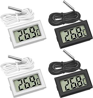 Thlevel Mini Digital LCD Thermomètre Température avec Sonde de Température Capteur Testeur pour Réfrigérateur Congélateurs...