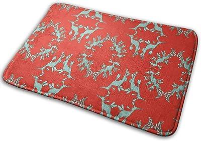 Sea Dragons in Red Carpet Non-Slip Welcome Front Doormat Entryway Carpet Washable Outdoor Indoor Mat Room Rug 15.7 X 23.6 inch