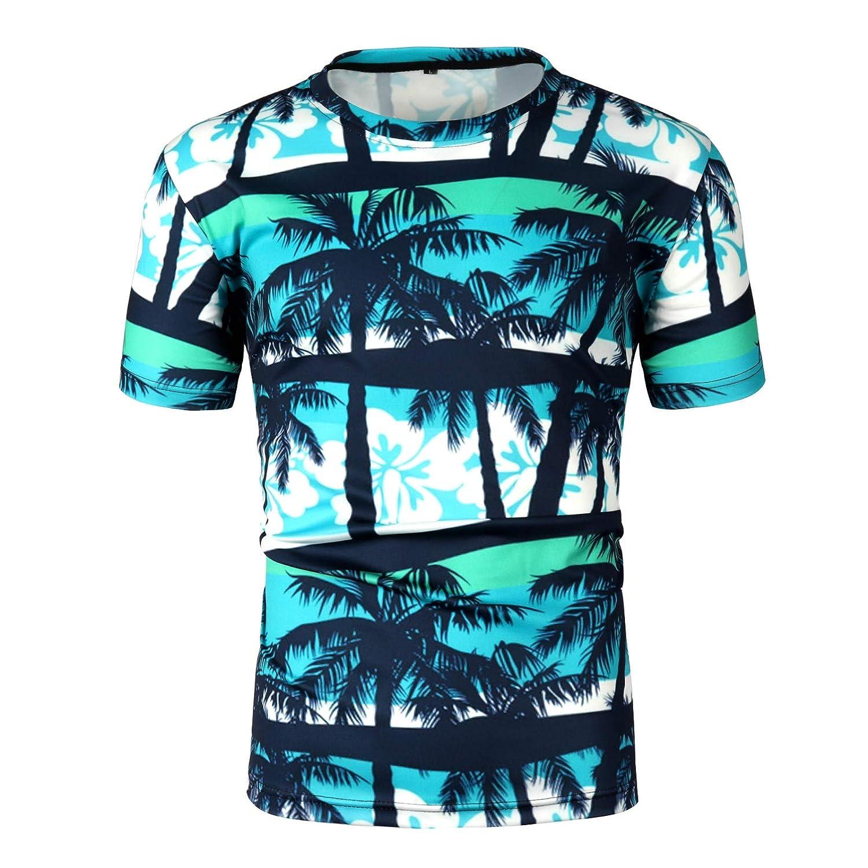 メンズ サマーTシャツ 半袖 Tronet メンズ ラウンドネック カラー スプラッシュペイント インク スポーツ 半袖 シャツ ブラウス トップス