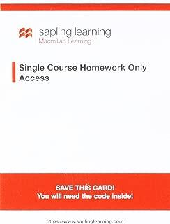 Sapling Homework for Biochemistry (Single-Term Access)