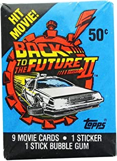 Back to the Future II Collectible Trading Card Packs (9 Movie Cards, 1 Sticker, 1 Stick Buble Gum)