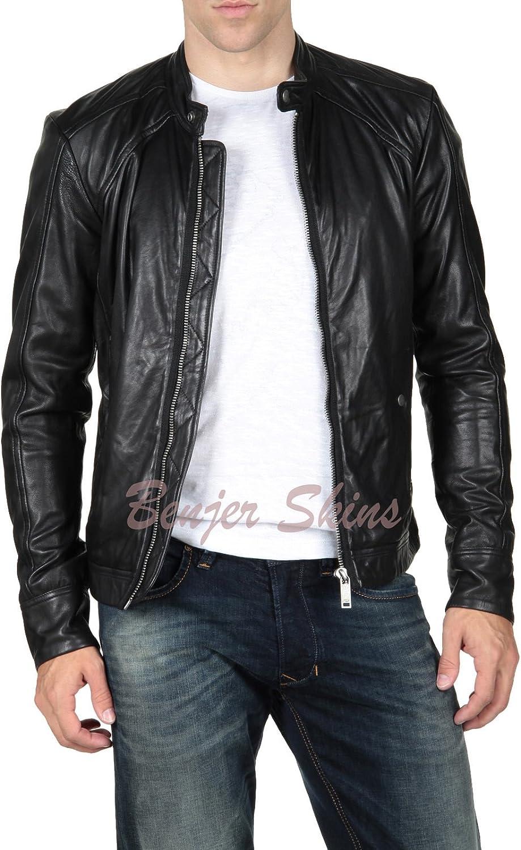 Men's Stylish Lambskin Genuine Leather Jacket 88