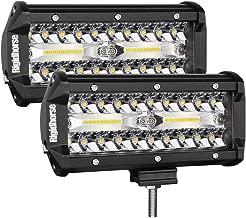 7 Inch LED Light Bar, Rigidhorse 16000LM Spot Flood Beam Combo LED Light Bars Off Road Driving Lights Work Lights Fog Light for Pickup UTV ATV Jeep Truck Boat