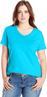 Just My Size Women's Plus-Size Short-Sleeve V-Neck T-Shirt