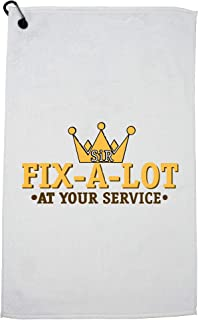 Hollywood Thread Sir Fix-A-Lot - at Your Service Golf Towel with Carabiner Clip