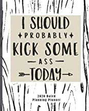 I Should Probably Kick Some Ass Today 2020 Dated Planning Planner: Weekly and Monthly (Jan-Dec) Professional Academic Calendar Schedule Organizer ... Startup Basics in Entrepreneurial Skills