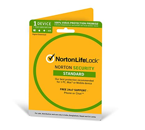 Norton Security Standard - 1 Device - 1 Year (Total Security For PC, Mac,  Android, IOS) - Physical Delivery (Activation Key Card) : Amazon.in:  Software