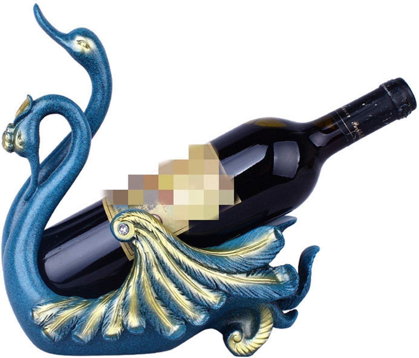 ROBDAE Decorative Wine Rack European Charlotte Mall 5 ☆ popular Couple Swan Antique Ra