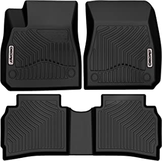 Heavy Duty Total Protection Black SUV PantsSaver Custom Fit Automotive Floor Mats for Chevrolet Malibu 2018 All Weather Protection for Cars Trucks Van