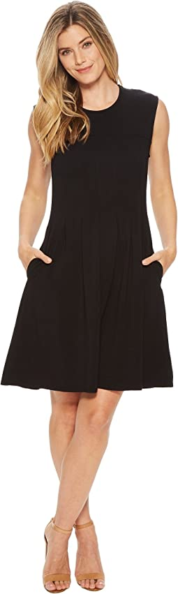 Mod-o-doc - Cotton Modal Spandex Jersey Pleated Fit & Flared Dress