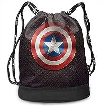 Drawstring Bag Stylish Captain America Shield Lightweight Sackpack Sport Gym Bundle Backpack