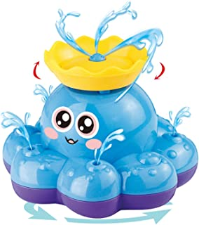 Bath Toy, Spray Water Octopus (Ramdom Colour), Can Float Rotate With Fountain,Floating Bathtub Shower Pool Bathroom Toy Fo...