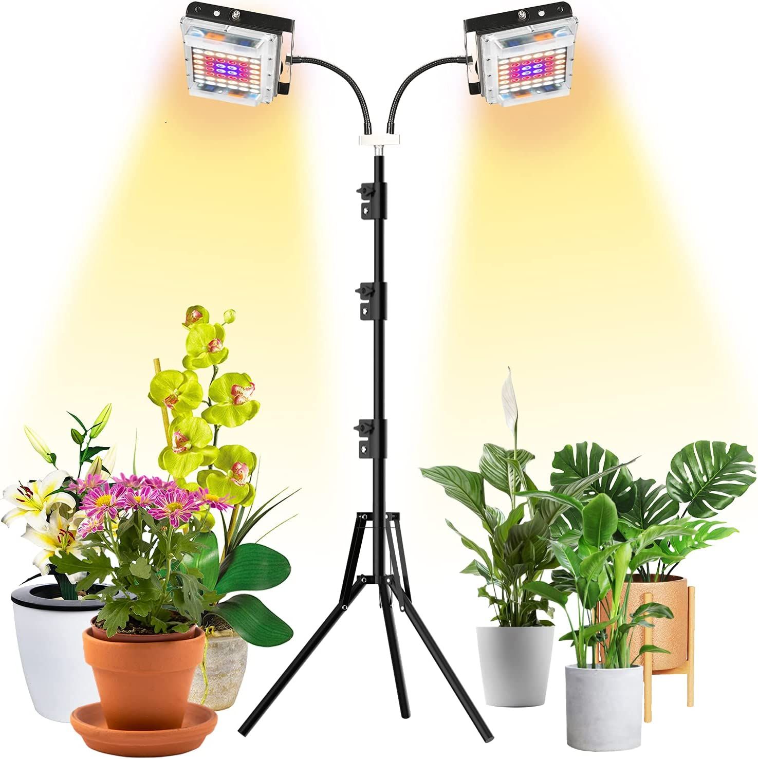 Grow Light with Stand Brand new LBW Dual Head Plan Spectrum Full Surprise price 300W LED