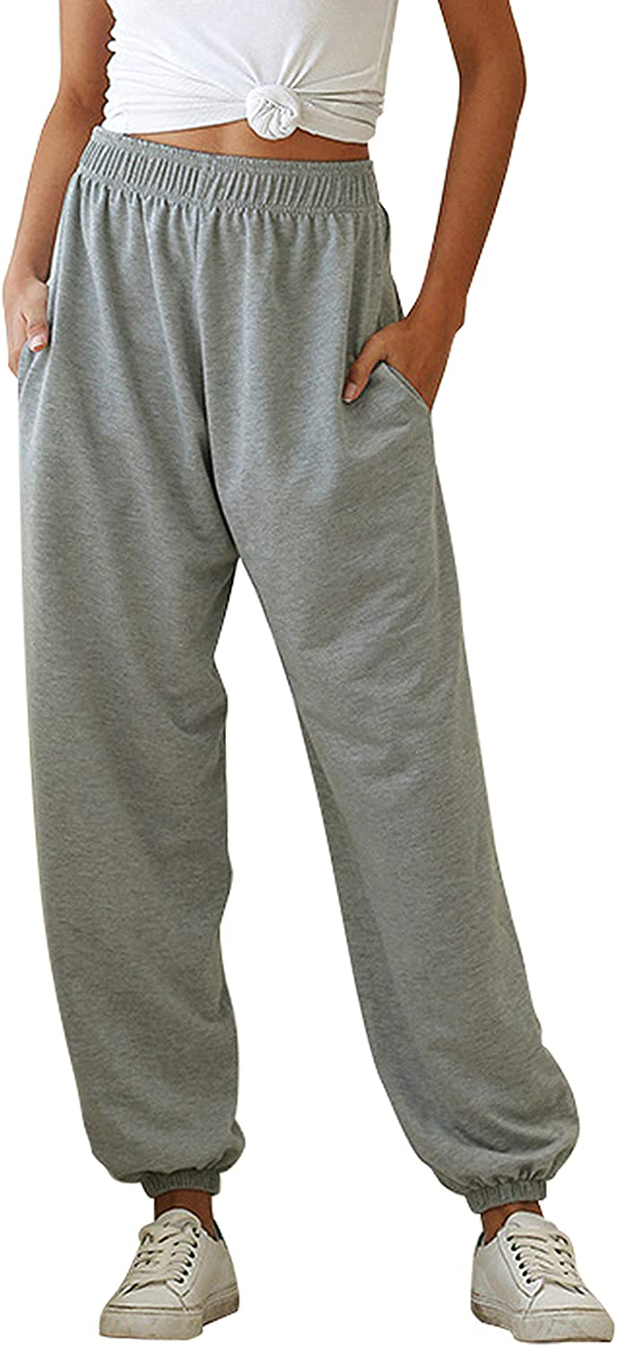 Womens Sweatpants Jogger High Waist Cinch Athl Bottom Gym Sporty Our shop Surprise price OFFers the best service