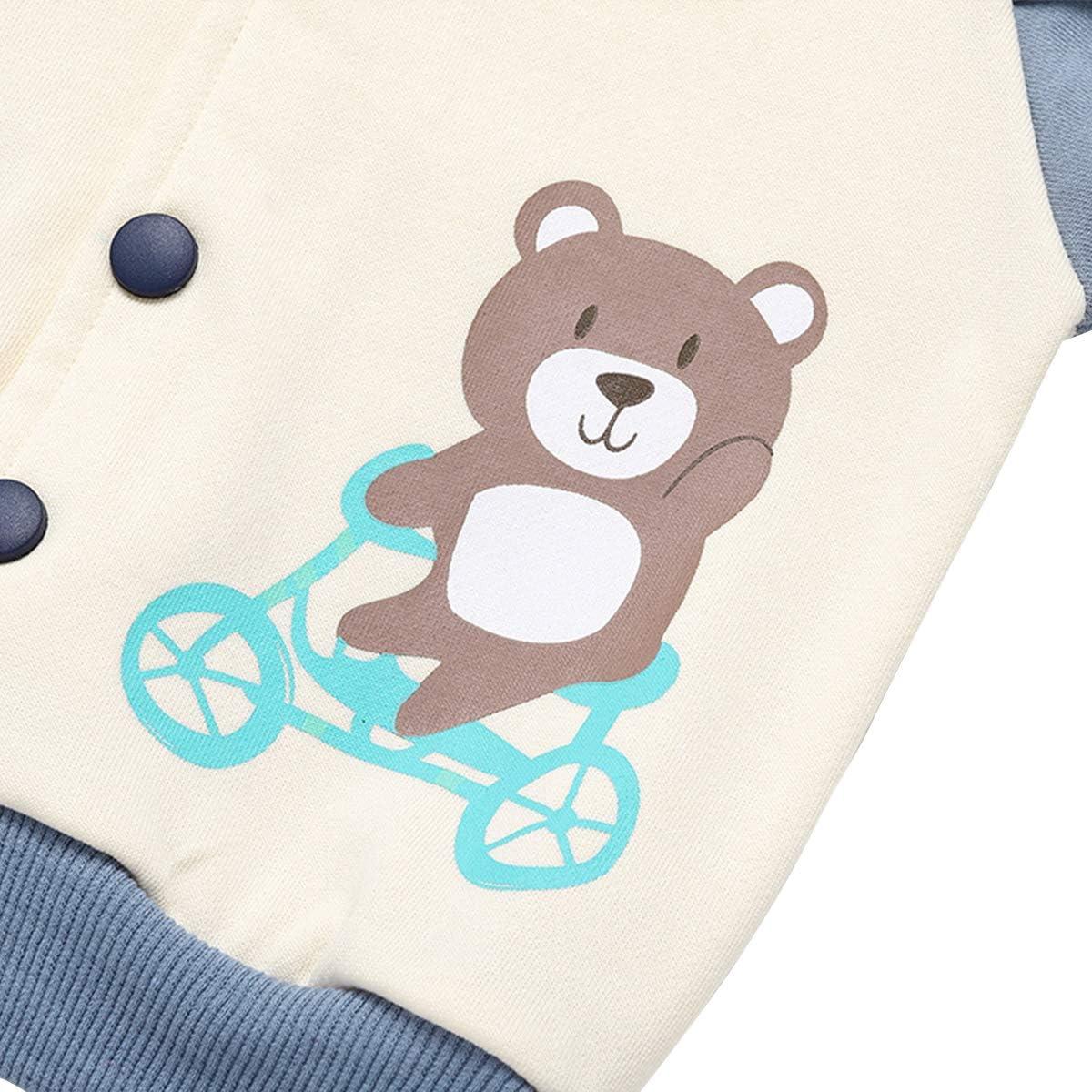 famuka Baby Jackets Boys Girls Outwear Autumn Winter Baseball Suit Coat Clothes