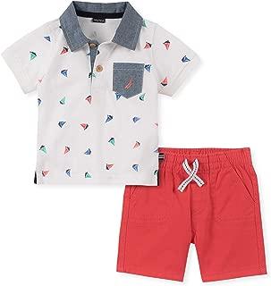 Nautica Sets (KHQ) Baby-Boys 2 Pieces Polo Shorts Set Shorts Set