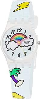 Swatch Womens Analogue Quartz Watch with Silicone Strap LW160