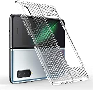 TAMIA case for Galaxy Fold/W20 W2020/F9000, Ultra-Thin Shockproof Protective Flip Cover Case Designed for Galaxy Fold (Clear)