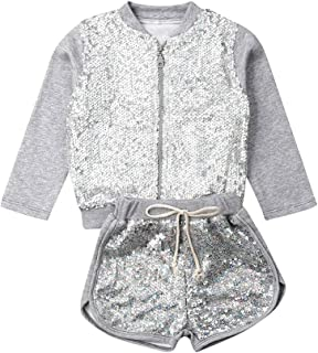Toddler Baby Girl Clothes Set 2PCS Long Sleeve Sweatersuit Tops Fall Winter Short Sports Outfits