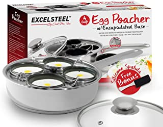 ExcelSteel 521 Non Stick Easy Use Rust Resistant Home Kitchen Breakfast Brunch Induction..