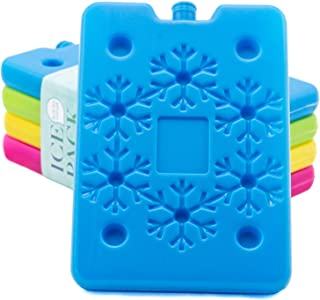 Blue Ele BE01 Ice Pack for Lunch Box and Cooler, BPA Free, Reusable and Long Lasting, Slim and Lightweight Design for Kids, Set of 4, Fun & Colorful