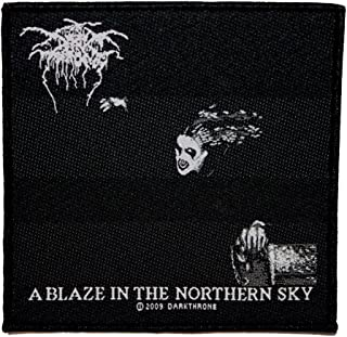 Darkthrone A Blaze In The Northern Sky Patch Black Metal Band Sew On Applique