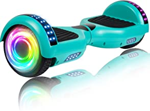 """SISIGAD Hoverboard Self Balancing Scooter 6.5"""" Two-Wheel Self Balancing Hoverboard with Bluetooth Speaker and LED Lights E..."""