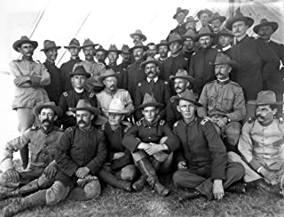 Theodore Roosevelt N(1858-1919) 26Th President Of The United States Colonel Roosevelt And Rough Riders At Montauk Point Long Island New York On Their Return From Cuba August 1898 Poster Print by (18