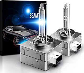 BEAMTECH D1S HID Bulbs,  Xenon Headlight Replacement Bulb 35W 4300K Pack of 2