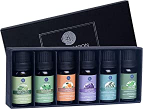 Lagunamoon Essential Oils Top 6 Gift Set Pure Essential Oils for Diffuser, Humidifier, Massage, Aromatherapy, Skin & Hair ...