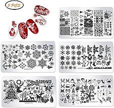 Stempel Stencil voor Nagels, Kerst Nagelkunstplaten Nagelstempel Foto Stempel Stencil Metalen platen Nageltattoo DIY Nagel...