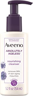 Aveeno Absolutely Ageless Nourishing Daily Facial Cleanser, Antioxidant-Rich Blackberry Extract, Non-Comedogenic Makeup-Re...