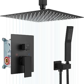 Airuida Matte Black Luxury Bathroom Shower Faucet