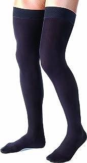 JOBST - 115517 Jobst for Men Thigh High 15-20mmHg Ribbed Closed Toe, M, Black