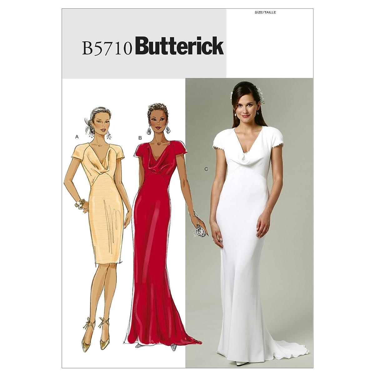 BUTTERICK PATTERNS B5710 Misses' Dress, Size A5 (6-8-10-12-14)