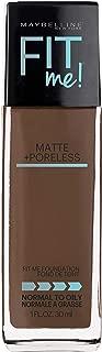 Maybelline Fit Me Matte + Poreless Liquid Foundation Makeup, Truffle, 1 fl. oz. Oil-Free Foundation
