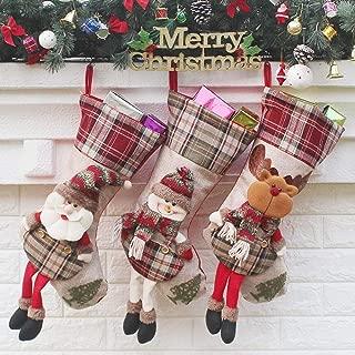 Christmas Decoration Hanging Candy Bags Santa Claus Christmas Socks Gift Bags Socks Bags,Durability (Color : Three-Piece Suit, Size : 21 * 25 * 53cm)
