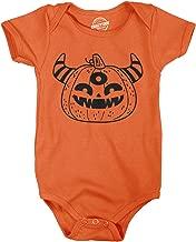 Creeper Monster Pumpkin Baby Bodysuit Funny Halloween Jumper for Infant