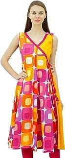 Cotton Tunic Dress Angrakha Wrap Style Kurti Kurta for Womens