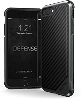 iPhone 8 Plus & iPhone 7 Plus Case,  X-Doria Defense Lux - Military Grade Drop Tested,  Anodized Aluminum,  TPU,  and Polycarbonate Case for Apple iPhone 8 Plus & 7 Plus,  [Black Carbon Fiber]