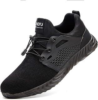 Botas de Seguridad para Hombre Mujer Unisex con Puntera de Acero Antideslizante Calzado Zapatos de Seguridad Deportivo Tra...