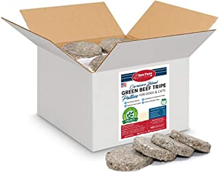 Raw Paws Frozen Raw Green Beef Tripe for Dogs & Cats, 4-oz Patties, 20-lbs - Made in USA - Free-Range, Antibiotic-Free, Al...