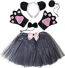 Kirei Sui Kids Animal Costume Ears Headband Bowtie Tail Tutu Paws Set