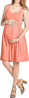 Women's Maternity Knee Length Tank Dress Made in USA
